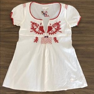 Anthropologie Odd Molly Embroidered Peasant Top